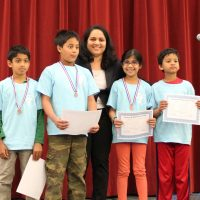 CML and Math Kangaroo Awards-2014 at Tom Matsumoto School Forum