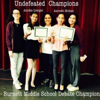 Burnett Middle Speech and Debate Team and Winners May16th and 17th 2015